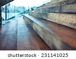 close up old wooden stair in... | Shutterstock . vector #231141025