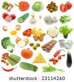 set of fresh vegetables over... | Shutterstock . vector #23114260