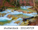 beautiful mountain river | Shutterstock . vector #231145729