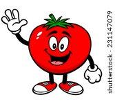 tomato waving | Shutterstock .eps vector #231147079