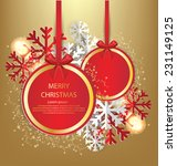 christmas greeting card. vector ... | Shutterstock .eps vector #231149125