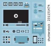 flat ui design elements set for ...