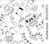 vector assorted doodle... | Shutterstock .eps vector #231153571