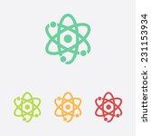 atom sign simbol. atom part...   Shutterstock .eps vector #231153934