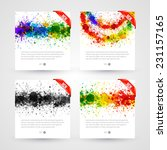set of bright paint splashes... | Shutterstock .eps vector #231157165