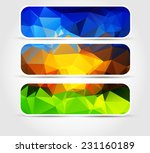 set banners blue  purple  green ... | Shutterstock . vector #231160189