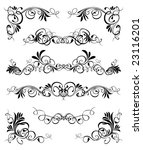 floral ornaments 4 | Shutterstock .eps vector #23116201