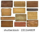 leather jeans labels  leather... | Shutterstock . vector #231164839