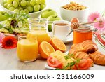 breakfast consisting of fruits  ... | Shutterstock . vector #231166009