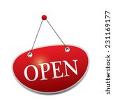 open sign | Shutterstock . vector #231169177
