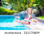 adorable little girl with curly ... | Shutterstock . vector #231170809