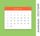 simple calendar page for... | Shutterstock .eps vector #231171649