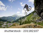 Mountainbiker Jumping From A...