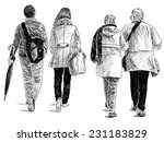 couples on a walk | Shutterstock . vector #231183829