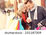 a picture of a couple shopping... | Shutterstock . vector #231187309