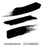 grunge watercolor brush strokes.... | Shutterstock . vector #231188281