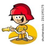 fireman | Shutterstock .eps vector #231195175