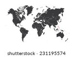 a map of the world with a... | Shutterstock .eps vector #231195574
