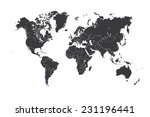 a map of the world with a... | Shutterstock .eps vector #231196441