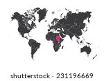 a map of the world with a... | Shutterstock .eps vector #231196669