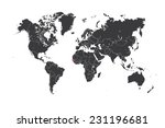 a map of the world with a... | Shutterstock .eps vector #231196681