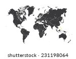 a map of the world with a... | Shutterstock .eps vector #231198064