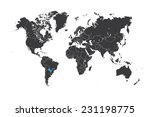 a map of the world with a... | Shutterstock .eps vector #231198775