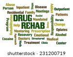 drug rehab word cloud with... | Shutterstock . vector #231200719