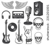 set of rock and roll music...
