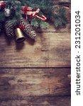 christmas fir tree with... | Shutterstock . vector #231201034