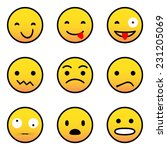 emoticons | Shutterstock .eps vector #231205069