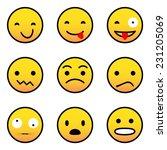 emoticons | Shutterstock .eps vector #231205069