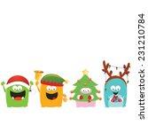 Christmas Costumed Monsters