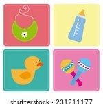baby shower design over white... | Shutterstock .eps vector #231211177