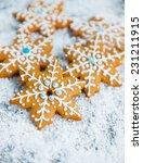 gingerbread snowflakes | Shutterstock . vector #231211915