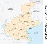 veneto map | Shutterstock .eps vector #231213241