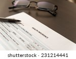 health insurance application on ... | Shutterstock . vector #231214441