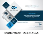 Vector brochure, flyer, magazine cover & poster template. | Shutterstock vector #231215065