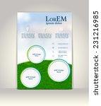 flyer  brochure or magazine... | Shutterstock .eps vector #231216985