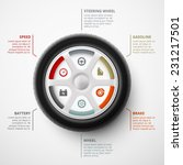 car wheel  infographic elements ... | Shutterstock .eps vector #231217501