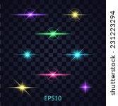 lights on the transparent... | Shutterstock .eps vector #231223294