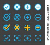 vector colorful confirm icons... | Shutterstock .eps vector #231235855