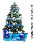 Christmas Tree With Blue...
