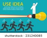white man on light bulb launch...   Shutterstock .eps vector #231240085