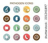 pathogen long shadow icons ... | Shutterstock .eps vector #231241897