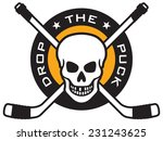 vector hockey emblem with the... | Shutterstock .eps vector #231243625