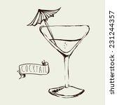 cocktail graphic design  ...   Shutterstock .eps vector #231244357