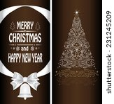 christmas card with a christmas ... | Shutterstock . vector #231245209