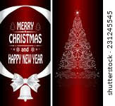 christmas card with a christmas ... | Shutterstock . vector #231245545