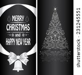 christmas card with a christmas ... | Shutterstock . vector #231245551